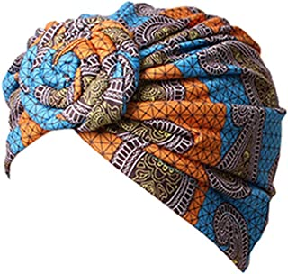 Atiluo Flower Style Turban Print Women Headwear Cotton Chemotherapy Caps Fashion Bandanas