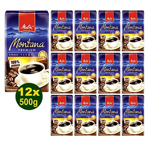 Melitta MONTANA Premium Filterkaffee 12x 500g (6000g) - Melitta Café gemahlen