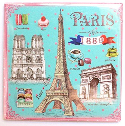 magnet aimant frigo MGE2 cuisine souvenir France Paris cadeaux Tour Eiffel 8,5X8,5 cm