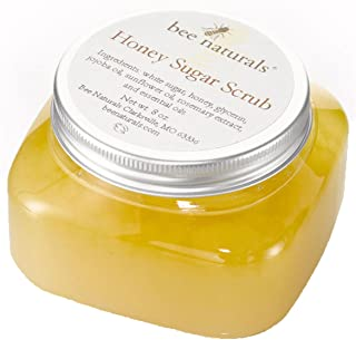 Bee Naturals Best Body Scrub - Natural Honey Sugar Exfoliator for Body, Face and Hands - Brightens, Softens, Cleans and Smoothens Skin - Gently Rejuvenates and Improves Complexion and Skin Health