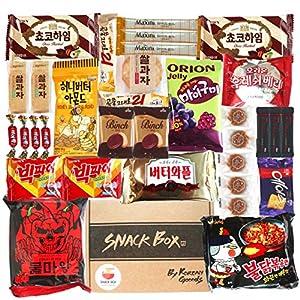 Time to snack and Enjoy your coffee break Korean snack box with Ramen SNS popular Ramen in Korea. Wanna try?? Korean snack From S.Korea