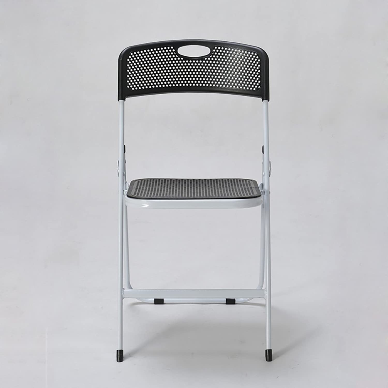 Chair Cellular Breathable Chair Plastic Folding Chair Staff Chair Training Chair Conference Chair (color   Black)