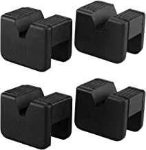 Seven Sparta Jack Pad Adapter for Jack Stand 2-3 Ton Universal Rubber Slotted Frame Rail Pinch welds Protector (4 Pack)