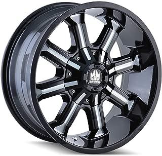 Mayhem Beast (8102) Black/Milled Spokes: 20x9 Wheel Size; 8-180 Lug Pattern, 124.1mm Bore, 18mm Offset.