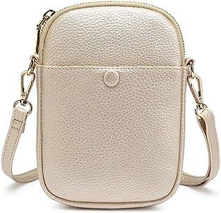 Damen Kleine Handytasche Mini Reißverschluss Tasche für Mädchen Handytasche Damen Crossbody Tasche Leder Kleine Handtasche