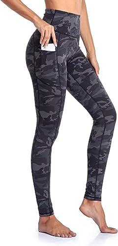 Gimdumasa Leggings de Sport Femmes Pantalon de Yoga Leggins avec Poches Yoga Fitness Gym Pilates Taille Haute Gaine G...