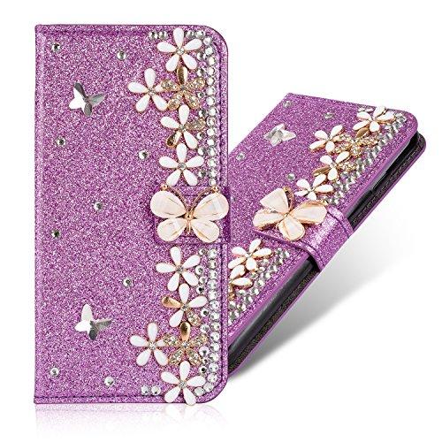 Glitter Diamant Strass Paillettes Bling Purse pour Huawei P30 Lite
