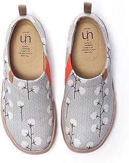 UIN Scarpe Espadrillas Casual Slip on Mocassini Donna estive Art dipinte Colorate Basse Sneakers Tela da Passeggio