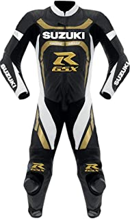 Suzuki Mens Motorbike Leather Suit – Motorcycle Racing CE Protection Armour Biker Suit– Custom Made