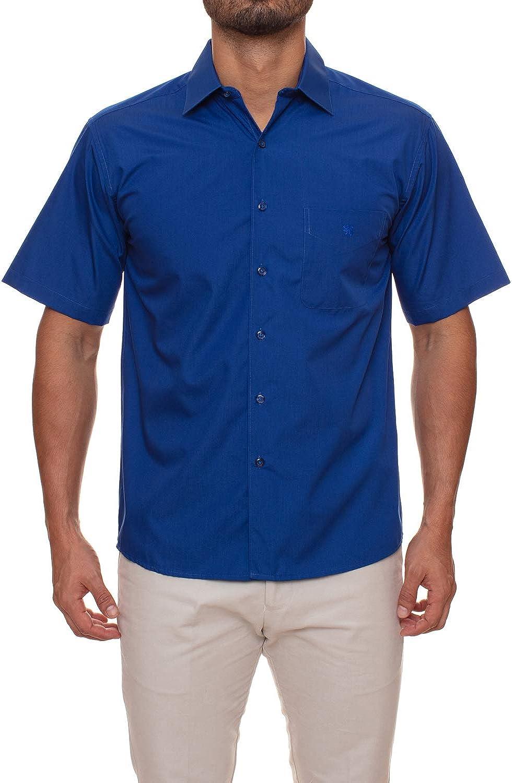 Manchester Men's Dress Shirt Short Sleeve Regular Fit