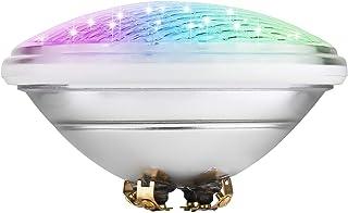 COOLWEST RGB Luces de la piscina LED 18W PAR56 Iluminación de piscinas 12V DC, Luminarias subacuáticas IP68 impermeables, tipo de control externo (No incluye control remoto)