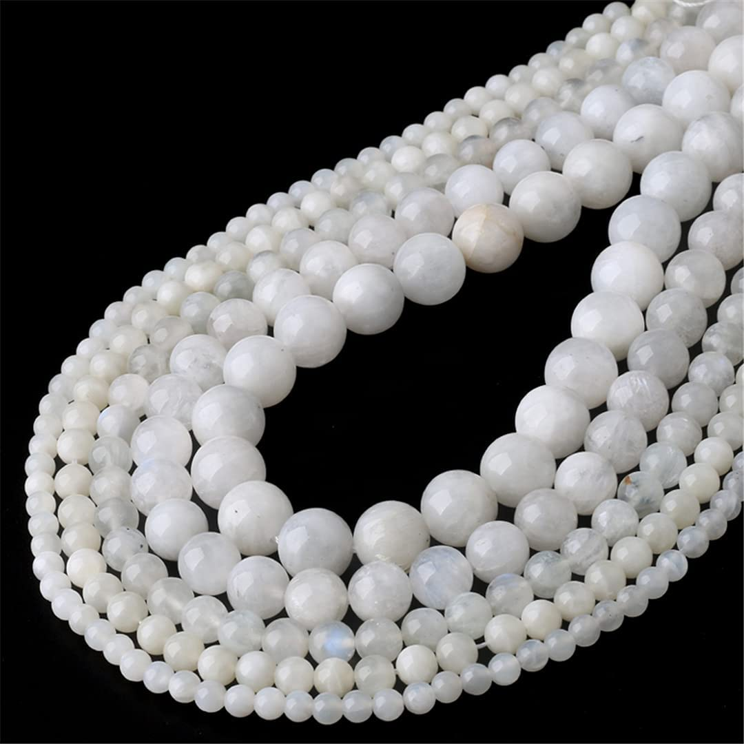 Natural Blue Moonstone Beads Round Loose 8 Popular overseas 6 10 4 12 Stone OFFicial site