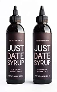 Just Date Syrup: Award-Winning Organic Date Syrup I Two 8.8 OZ Squeeze Bottles I Low-Glycemic, Vegan, Paleo | 1 Ingredient...