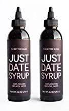 Just Date Syrup: Award-Winning Organic Date Syrup I Two 8.8 OZ Squeeze Bottles I Low-Glycemic, Vegan, Paleo   1 Ingredient...