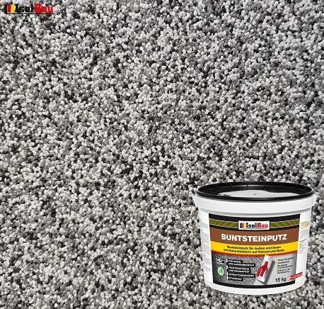 Buntsteinputz Mosaikputz BP20 (weiss, grau, schwarz) 15kg Absolute ProfiQualität