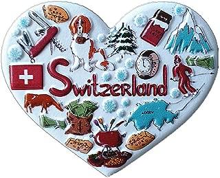 Svizzera Frigorifero Magnete MUYU Magnet 3D Mucca a Forma di Campana Svizzera Frigorifero turistica Souvenir Gift Home /& Kitchen Decorazione Adesivo Magnetico