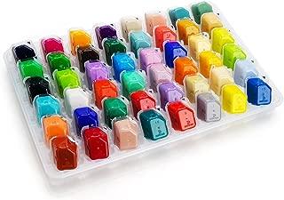 48 Portable Color Gouache Paint Set Unique Jelly Cup Design with Individual Paint Pan for Artists , Students (48 Colors, 30ml)