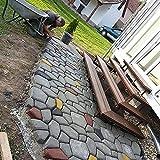 YFY Molde de pavimento, Molde de pavimentación de hormigón 2X DIY, Plantilla de jardín con 9 cámaras 43 x 43 x 44m (Size : 5pack)