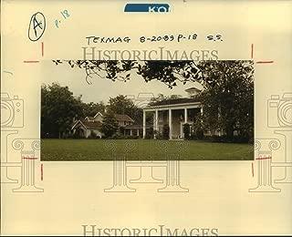 1989 Press Photo Plantation Home At Varner-Hogg State Park In Texas - hca59931