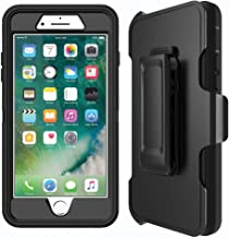 MBLAI Defender Case for iPhone 7, iPhone 8 Case with Belt Clip(ONLY). Kickstand, Holster, Heavy Duty, Built in Screen Protector - Retail Packaging-Black