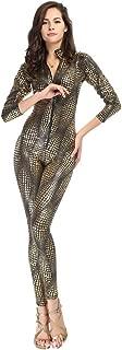 Women's Sexy Snake Skin Print Catsuit Clubwear Stripper