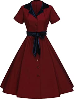 GownTown Women's 1950's Vintage Rockabilly Swing Stretchy Dress