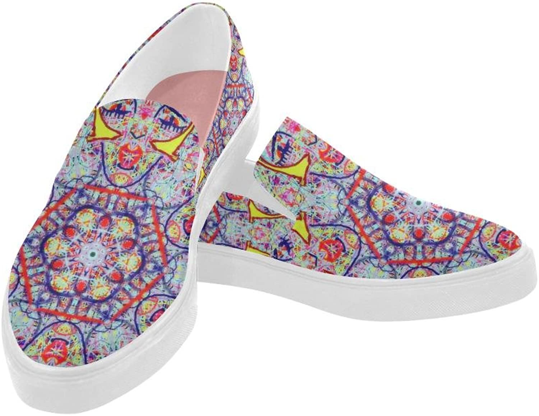 Thleudron Women's Charleston Posidon Pointed Toe Slip-on Women's shoes(Model 809)