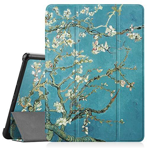 Fintie Hülle für Samsung Galaxy Tab S4 10.5 2018 mit S Pen Halter - Ultra Schlank Ständer Schutzhülle Case mit Auto Schlaf/Wach Funktion für Samsung Tab S4 10.5 Zoll Tablet T830/T835, Mandelblüten