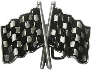 New Vintage Car Racing Flag Belt Buckle Gurtelschnalle Boucle de ceinture