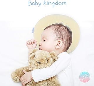 Infant Baby Flat Head Pillow 2 Luxurious Bamboo Pillowcases /& Bonus Bibs Included by Capitan Green Sleeping Memory Foam Cushion for Newborn /— Head Shaping /& Correcting Flat Spot Syndrome