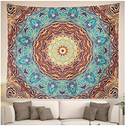 QJIAHQ Mandala Decorativo Pared Arte Fondo Tela Colgante Bohemia Hippie Dormitorio decoración Yoga Mat 80 * 60 Pulgadas