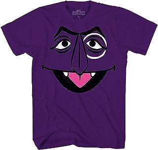 Sesame Street T Shirt Count Von Count Big Face Graphic Purple Cotton Tee