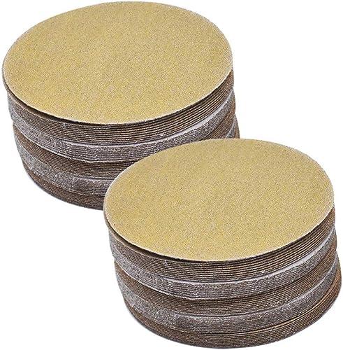 2021 Hook Loop Pads Sanding Disc 5-Inch NO-Hole 100Pcs Aluminum Oxide Round Flocking Sandpaper for Sanding Grinder Polishing Accessories sale (60 online 80 120 180 240 320) Grit (120grit) online sale