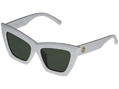Le Specs Hathor Alt Fit (White/Khaki Mono) Fashion Sunglasses