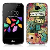 Fubaoda LG K3 Hülle, Geflügeltes Wort Stil TPU Case Schutzhülle Silikon Case für LG K3 (K100 / LS450)
