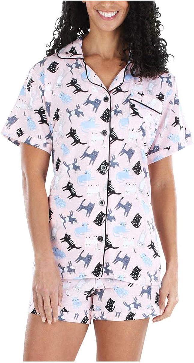 Limited time sale Over item handling Sleepyheads Women's Sleepwear Jersey Pajama Shorts Set