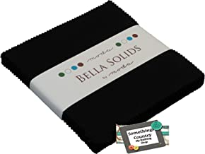 "Bella Solids Blacks Moda Charm Pack by Moda Fabrics; 42-5"" Quilt Squares"