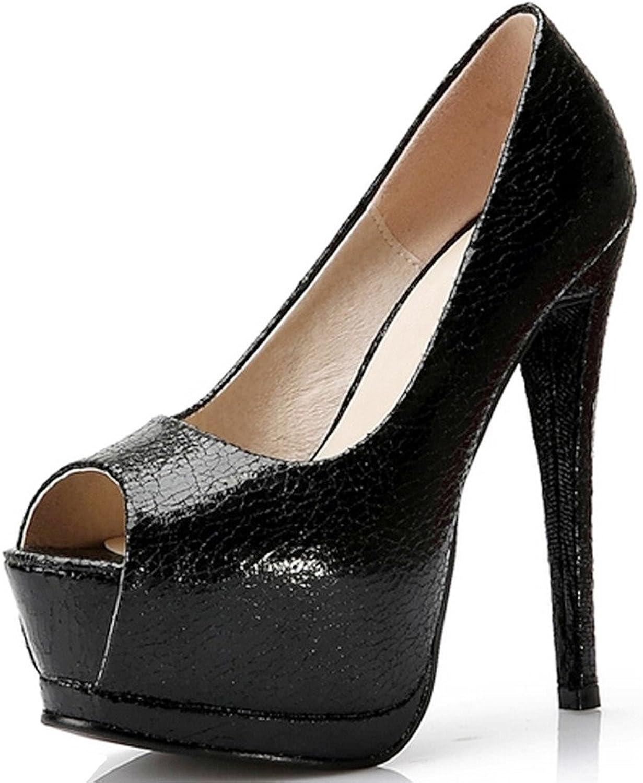 LizForm Womens Peep Toe Platform Pump Party Pumps Wedding Stiletto High Heels