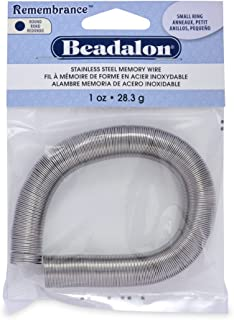 Beadalon 1-Ounce Memory Wire Ring for Beading, Small, Bright