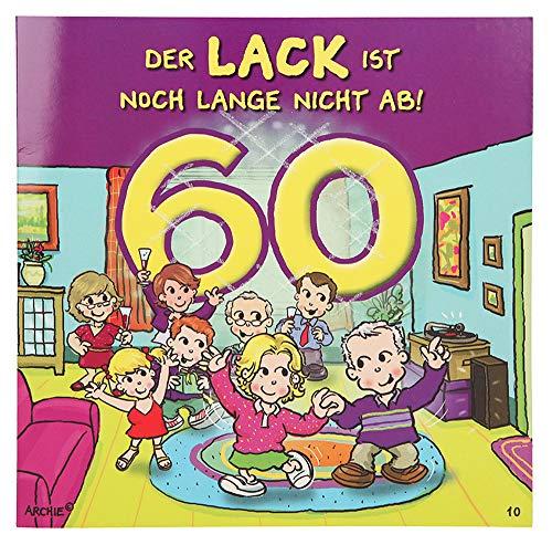 Depesche 3865.010 Glückwunschkarte mit Musik und Motiv von Archie, 60. Geburtstag, Mehrfarbig
