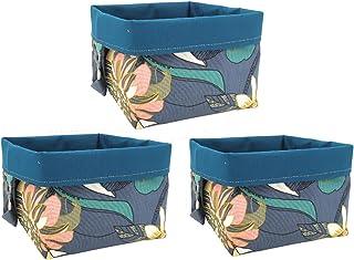Paniers de rangement en tissu cubes réversibles en coton pour étagères et bureaux, panier/boîte/panier multifonction, déco...