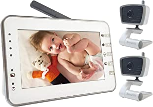 Moonybaby Trust 30-2 Video Baby Monitor with 2 Cameras, 4.3 Inches Screen, Non-WiFi,..
