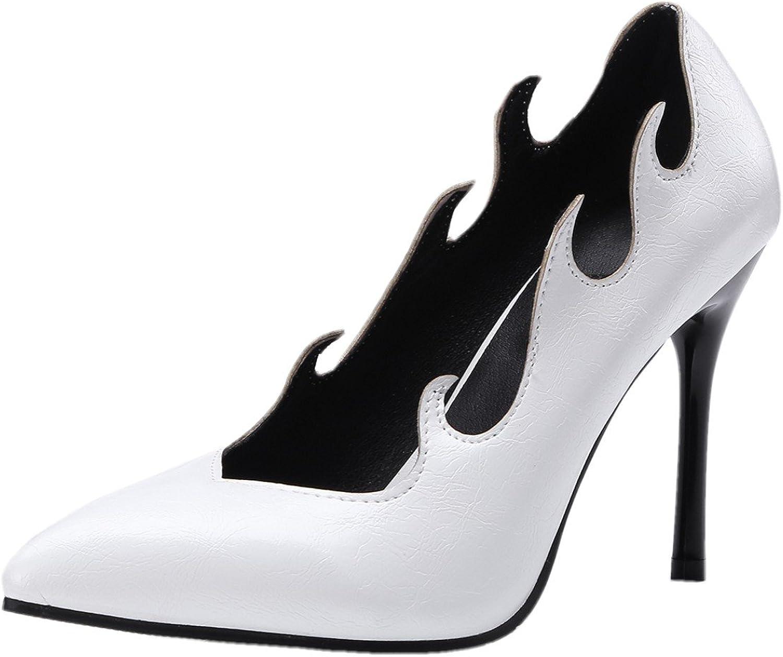 Rongzhi Womens Slip on Slim Stiletto Pump High Heels Pointy Toe Sexy Wedding Dress Nightclub shoes