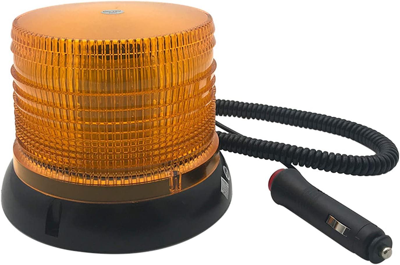 Upupto LED VEHÍCULO DE AUTOMÓVIL LED Luz de Advertencia Transpulsor Lámpara de Emergencia montada en Beacon Magnético 12 / 24V
