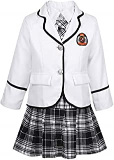Kids Girls Korea British Japan School Uniforms Outfits Japanese School Girls Anime Costume Dress Clothes Set