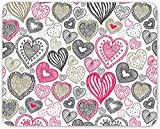 Cute Love Hearts Mouse Mat Pad - Wife Girlfriend Mum Sister Gift Computer #13094