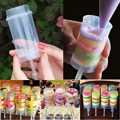 Pas cher Cake Pop Containers 3 Pcs Plastic Push Containers Couvercles Cake Push Up Party Cupcake Supplies Kitchen , Dining & Bar big sales