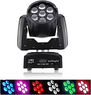 Weddingled Moving Head Stage Lights Led Dj Light Wash Zoom Effect 7×12w RGBW 4 Color OSRAM Leds Device Stage Led Beam Lights Dmx512 for Home DJ Club Disco Music Party Church Wedding Ceremory (1pcs)