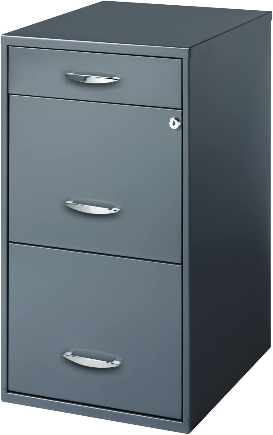 Hirsh Soho 3 Drawer File Cabinet In Charcoal Amazon Ca Home Kitchen