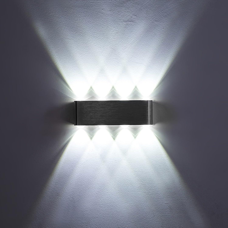@Wandleuchte Wandleuchte Einfache LED Aluminium Wandleuchte Schlafzimmer Nachttisch Wandleuchte Wohnzimmer Flur Treppe Wandleuchte Weilicht Engineering Lampe Wandlampe (Farbe   B)